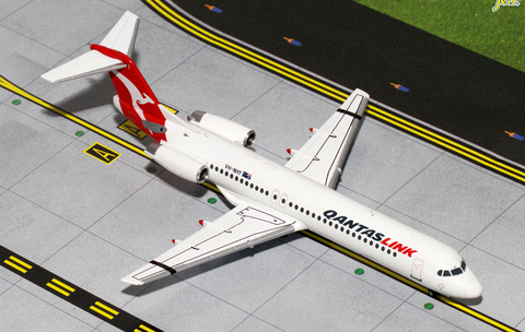 1/200 GeminiJets QantasLink / Network Aviation Fokker F-100 Diecast Model - RW Hobbies