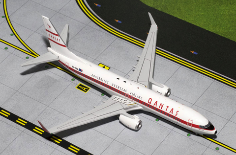 "1/200 Gemini Jets Qantas Airlines ""Retro Roo II"" Boeing 737-800w Diecast Model Airplanes - RW Hobbies"