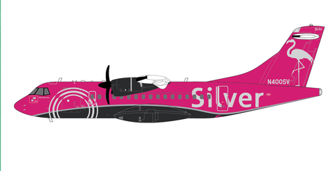 1/200 GeminiJets Silver Airways ATR-42-600 Diecast Model Plane - RW Hobbies