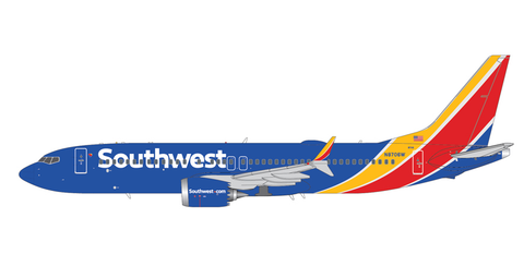 1/200 GeminiJets Southwest Airlines Boeing 737 MAX 8 Diecast Model - RW Hobbies