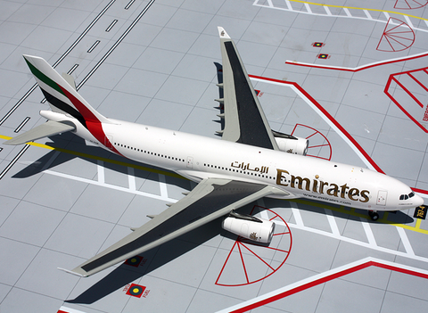 1/200 GeminiJets Emirates Airline Airbus A330-200 Diecast Model - RW Hobbies
