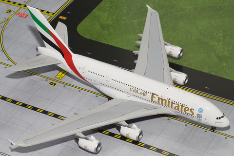 1/200 GeminiJets Emirates Airline (Expo 2020) Airbus A380-800 Diecast Model - RW Hobbies