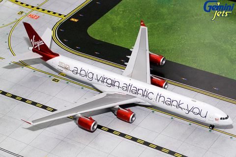 1/200 GeminiJets Virgin Atlantic Airbus A340-600 Diecast Model - RW Hobbies