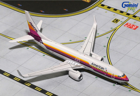 "1/400 Gemini Jets American Airlines ""AirCal Retro"" Boeing 737-800s Diecast Model Airplanes - RW Hobbies"