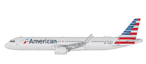 1/400 GeminiJets American Airlines Airbus A321neo Diecast Model - RW Hobbies