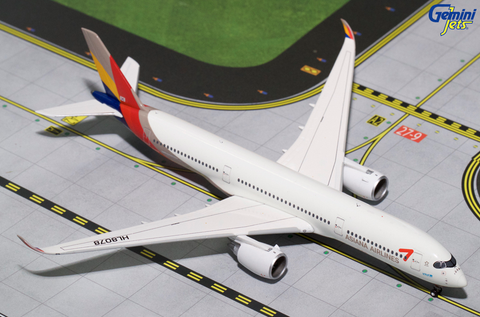1/400 Gemini Jets Asiana Airlines Airbus A350-900 Diecast Model Airplanes - RW Hobbies