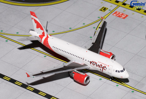 1/400 GeminiJets Air Canada Rouge Airbus A319 Diecast Model
