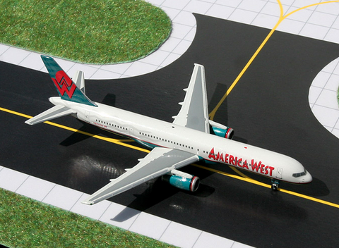 1/400 GeminiJets America West Airlines Boeing 757-200 Diecast Model - RW Hobbies