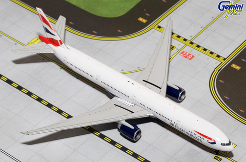 "1/400 Gemini Jets British Airways 777-300ER ""G-STBG"" Diecast Model Airplanes - RW Hobbies"