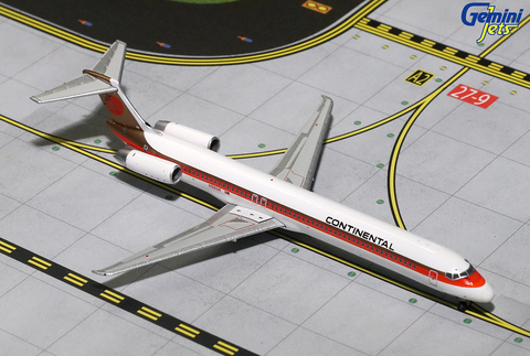 1/400 Gemini Jets Continental Airlines McDonnell Douglas MD-82 Diecast Model Airplanes - RW Hobbies