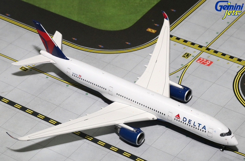 1/400 Gemini Jets Delta Airlines Airbus A350-900 Diecast Model Airplanes - RW Hobbies
