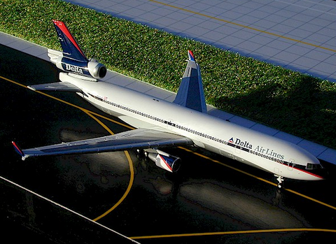 "1/400 Gemini Jets Delta Airlines ""Interim"" McDonnell Douglas MD-11 Diecast Model Airplanes - RW Hobbies"