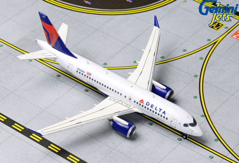 1/400 GeminiJets Delta Airlines Airbus A220-100 Diecast Model - RW Hobbies