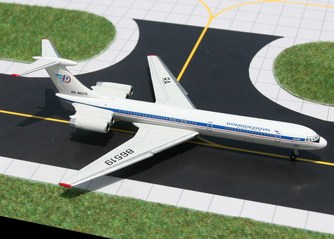 1/400 Gemini Jets Domodedovo Airlines Ilyushin IL-62M Diecast Model Airplanes - RW Hobbies