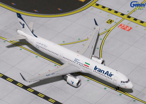 1/400 Gemini Jets IranAir Airbus A321s Diecast Model Airplanes - RW Hobbies