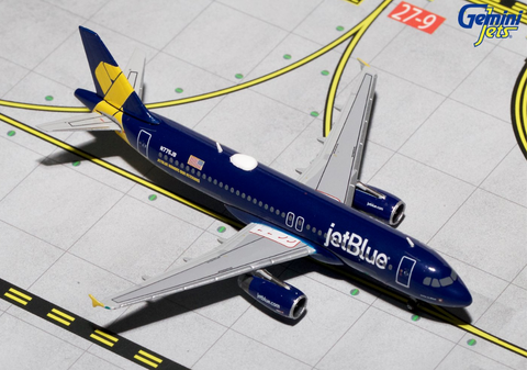 1/400 GeminiJets  jetBlue Airbus A320-200 Diecast Model - RW Hobbies
