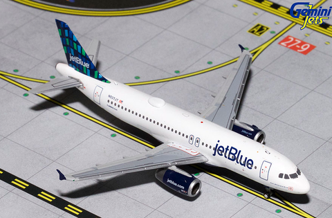 1/400 Gemini Jets JetBlue Airbus A320-200 Diecast Model Airplanes - RW Hobbies