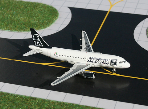 "1/400 GeminiJets Mexicana ""85th Anniversary colors"" Airbus A319 Diecast Model - RW Hobbies"