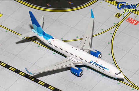 1/400 Gemini Jets Pobeda Boeing 737-800w Diecast Model Airplanes - RW Hobbies