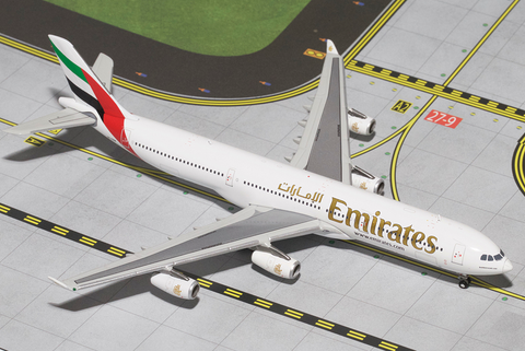 1/400 GeminiJets Emirates Airline Airbus A340-300 Diecast Model - RW Hobbies
