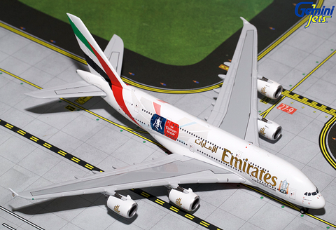 "1/400 Gemini Jets Emirates Airline ""FA Cup"" Airbus A380-800 Diecast Model Airplanes - RW Hobbies"