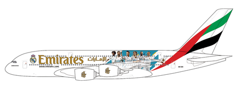 "1/400 GeminiJets Emirates Airline ""Real Madrid"" Airbus A380-800 Diecast Model - RW Hobbies"