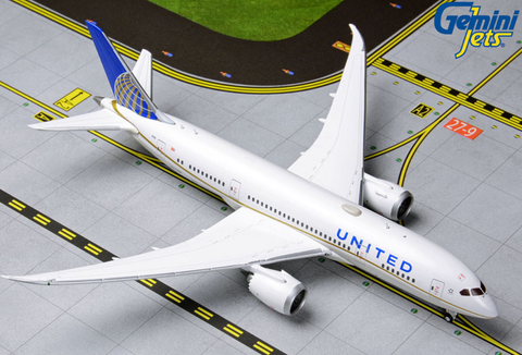 1/400 GeminiJets United Airlines Boeing 787-8 Dreamliner Diecast Model - RW Hobbies
