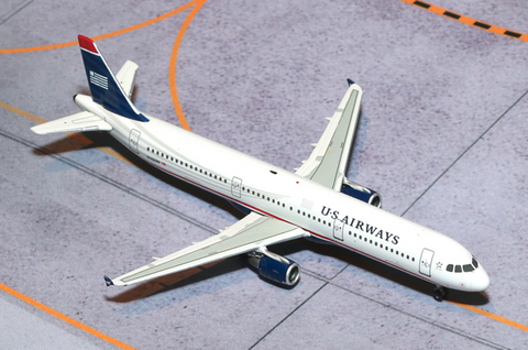 1/400 Gemini Jets US Airways Airbus A321 Diecast Model Airplanes - RW Hobbies