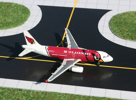 "1/400 GeminiJets US Airways ""Arizona Cardinals"" Airbus A319 Diecast Model - RW Hobbies"