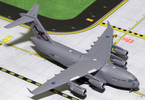 "1/400 GeminiJets RAF ""99 Years"" C-17 Globemaster Diecast Model - RW Hobbies"