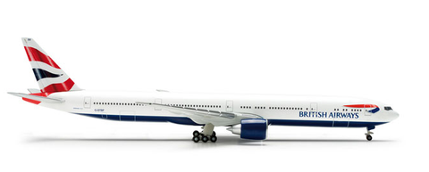 "1/500 Herpa British Airways Boeing 777-300ER ""G-STBF"" Diecast Model - RW Hobbies"