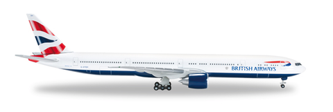 "1/500 Herpa British Airways Boeing 777-300ER ""G-STBH"" Diecast Model - RW Hobbies"
