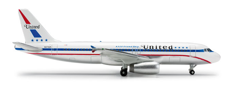 "1/500 Herpa United Airlines ""85th Anniversary"" Airbus A320-200 Diecast Model - RW Hobbies"