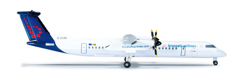 1/500 Herpa Brussels Airlines Bombardier Dash 8 Q-400 Diecast Model - RW Hobbies