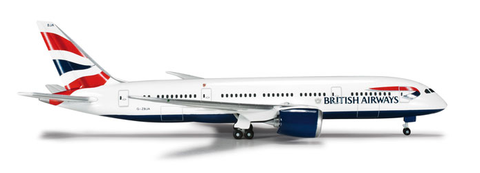 "1/500 Herpa British Airways Boeing 787-8 Dreamliner ""G-ZBJA"" Diecast Model"