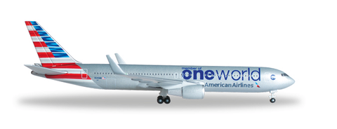 "1/500 Herpa American Airlines ""One World"" Boeing 767-300 Diecast Model - RW Hobbies"