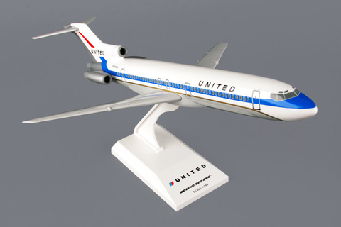 "Skymarks United Airlines ""delivery colors"" Boeing 727-200 1/150 Plastic Model - RW Hobbies"