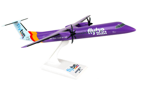 Skymarks Flybe Bombardier Dash 8 Q-400 1/100 Plastic Model - RW Hobbies