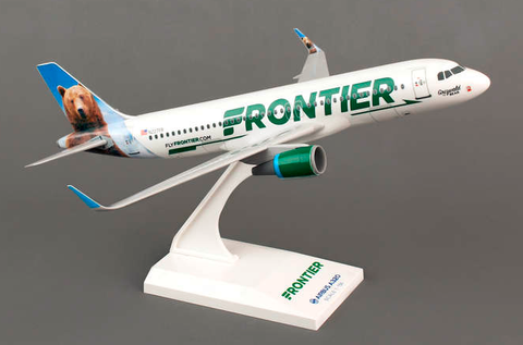 Skymarks Frontier Airlines Airbus A320-200 1/150 Plastic Model - RW Hobbies