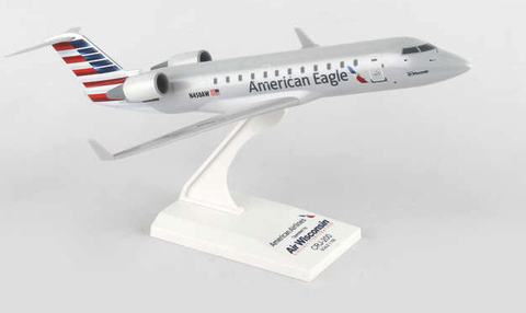 Skymarks American Eagle (Air Wisconsin) Bombardier CRJ-200 1/100 Plastic Model - RW Hobbies
