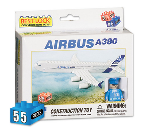 Best-Lock Airbus A380 House Colors 55 Piece Construction Toy - RW Hobbies