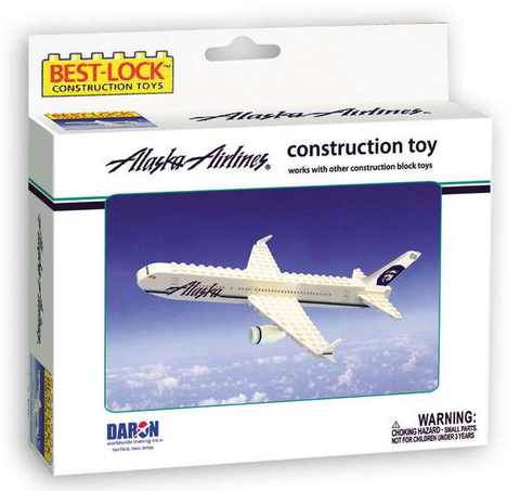 Best-Lock Alaska Airlines 55 Piece Construction Toy - RW Hobbies