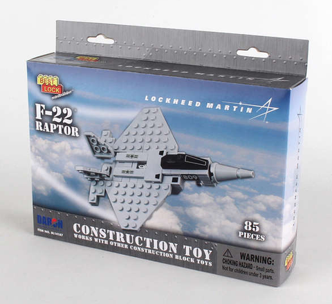 Best-Lock F-22 Raptor 85 Piece Construction Toy - RW Hobbies
