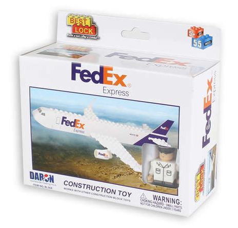 Best-Lock FedEx Express 55 Piece Construction Toy - RW Hobbies
