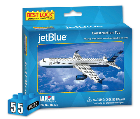 Best-Lock JetBlue 55 Piece Construction Toy - RW Hobbies