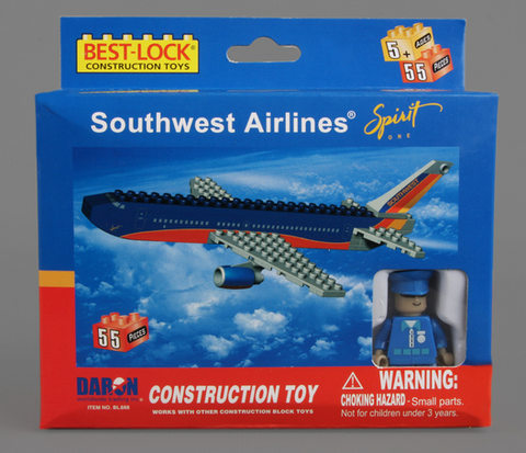 Best-Lock Southwest Airlines 55 Piece Construction Toy - RW Hobbies