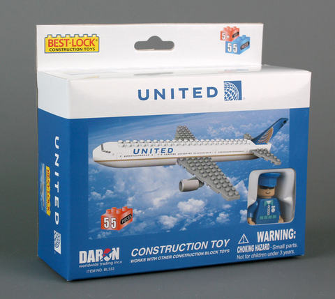 Best-Lock United Airlines 55 Piece Construction Toy - RW Hobbies