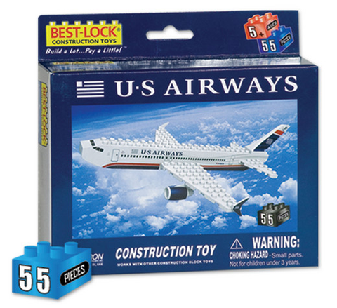 Best-Lock US Airways 55 Piece Construction Toy - RW Hobbies