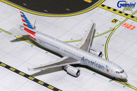 1/400 GeminiJets American Airlines Airbus A321 Diecast Model - RW Hobbies
