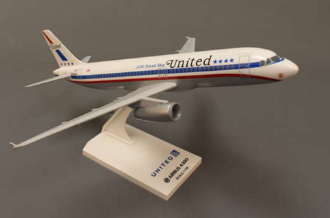 "Skymarks United Airlines Airbus A320-200 ""Friend Ship"" 1/150 Plastic Model - RW Hobbies"